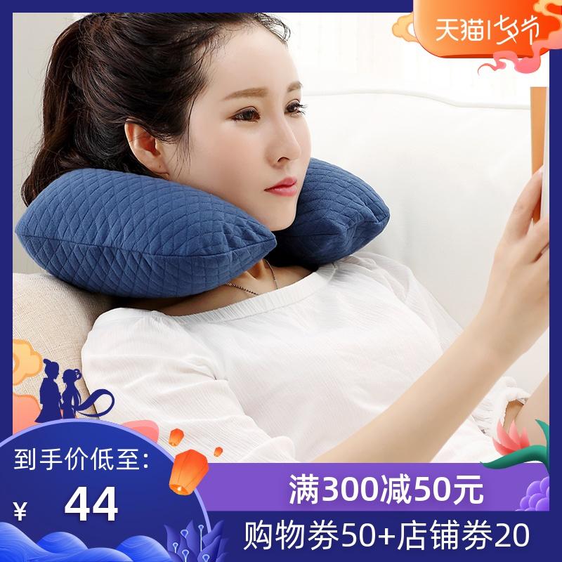 文藝青年充氣旅行u型頭枕頸枕靠枕睡枕頭枕脖枕u型午睡枕睡眠簡約