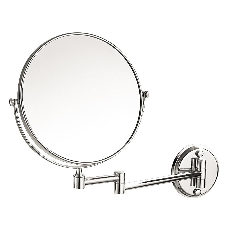 浴室化妆镜折叠酒店卫生间旋转伸缩镜子双面放大美容镜壁挂免打孔