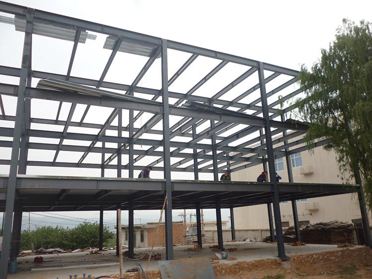 H钢莱钢钢结构楼房房屋框架楼厂房住宅住房别墅钢结构包安装设计