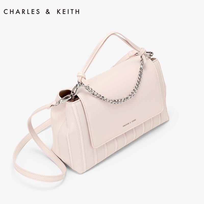 金属链条装饰条纹大容量包 50780659 CK2 单肩包 KEITH & CHARLES