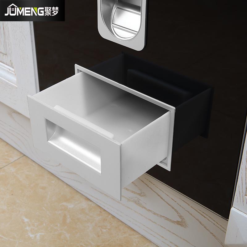 橱柜米箱钢化玻璃米缸 不锈钢 304 橱柜储米桶米柜 聚梦米箱嵌入式