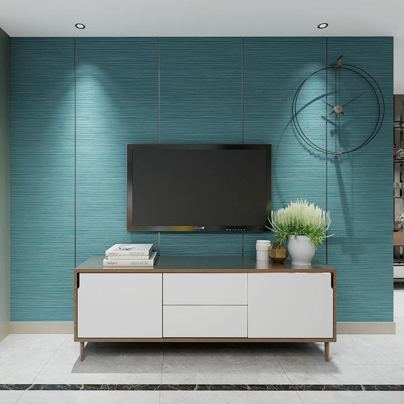 立体电视背景墙软包墙板鹿皮绒壁纸无纺布 3D 客厅卧室条纹墙纸简约