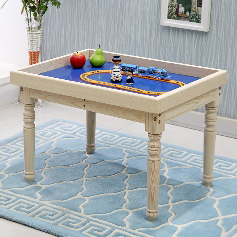實木兒童沙盤桌玩沙托盤積木桌玩具桌多功能簡易書桌學習桌儲物桌