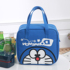Pupil lunch box bag portable insulated lunch bag large portable hand-carry children cute cartoon canvas lunch bag