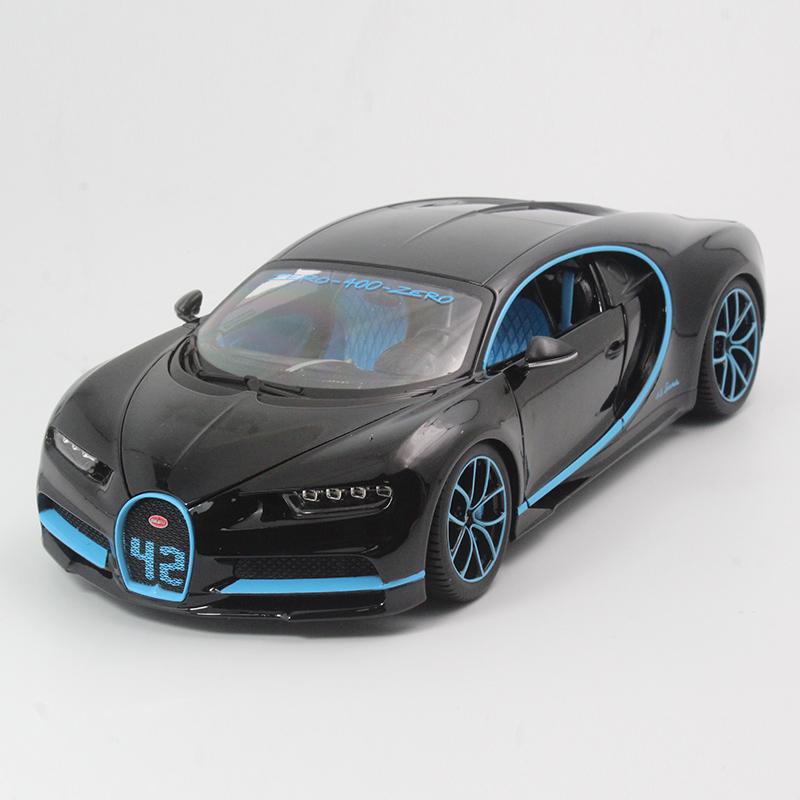 比美高 1:18 布加迪 跑车 chiron 汽车模型 合金车模 摆件