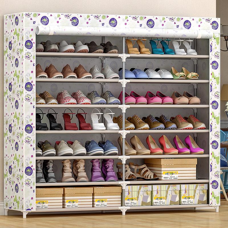 简易鞋柜家用防尘多层收纳神器室内好看经济型鞋架子放门口大容量