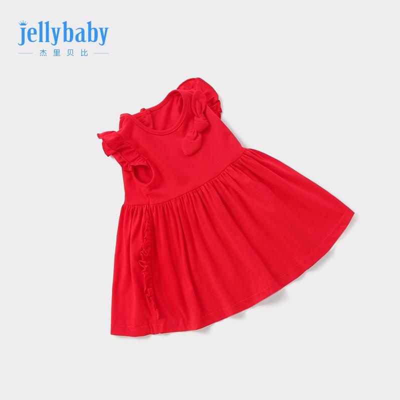 宝宝红色连衣裙1-3岁婴儿裙子夏女儿童纯棉女童夏装6婴幼儿公主裙
