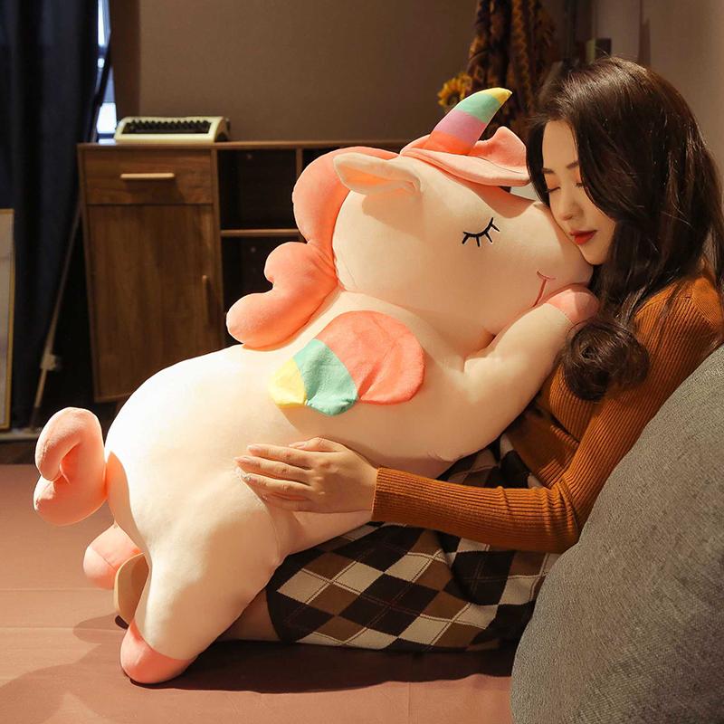 可爱独角兽公仔毛绒大号女生娃娃玩具女孩床上睡觉抱枕超软玩偶马