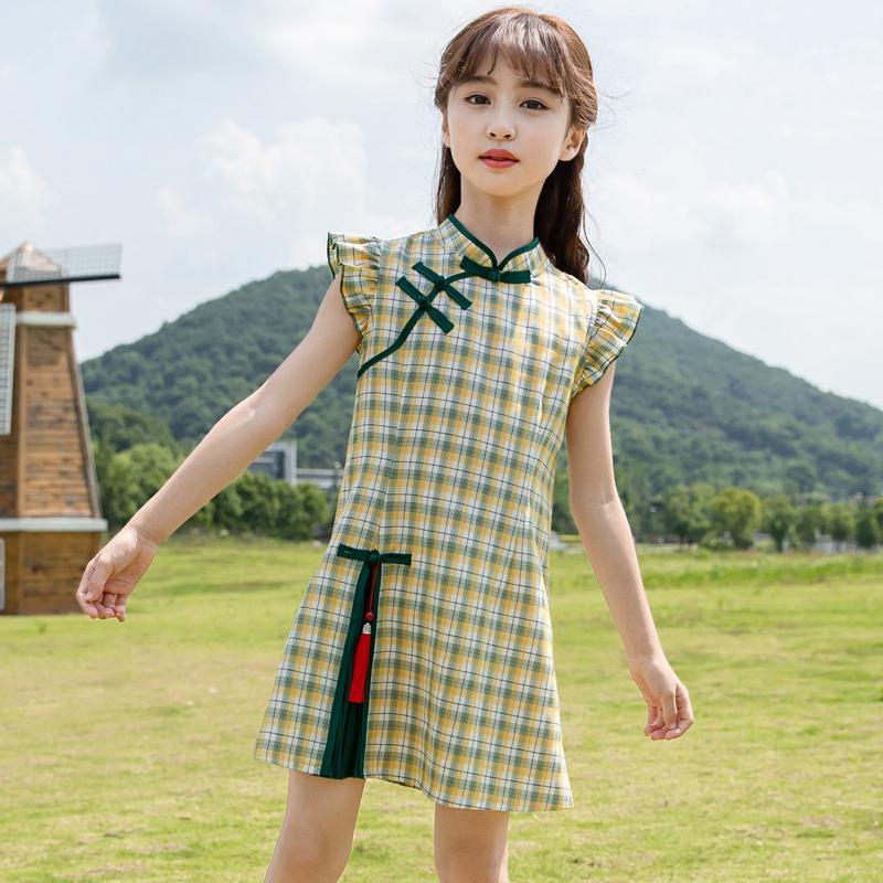 女童旗袍裙子中国风大童公主裙洋气儿童装汉服夏装2020夏季连衣裙【图2】