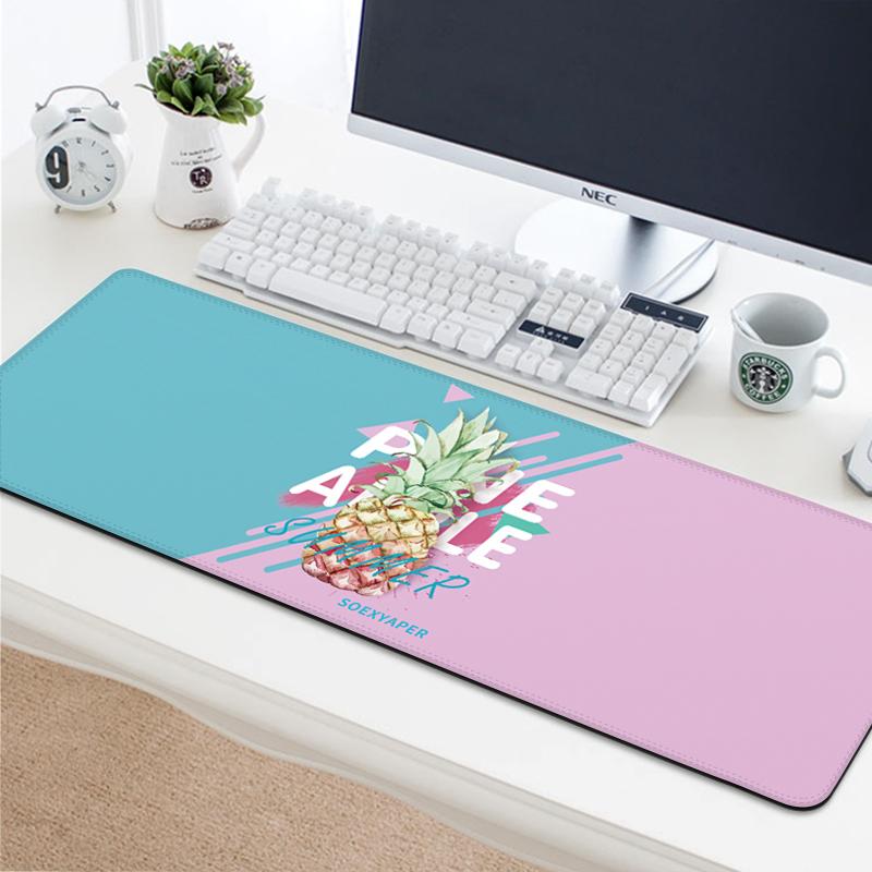 游戏鼠标垫超大号办公电脑笔记本锁边鼠标垫卡通动漫二次元桌垫