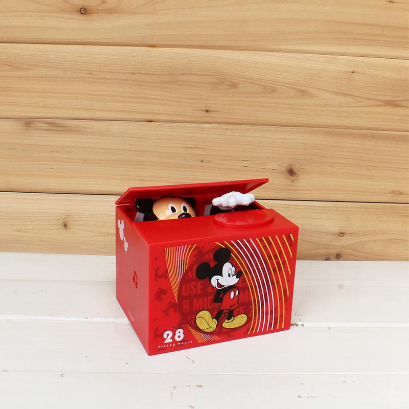 米奇创意可爱正版电动偷钱自动存钱罐储蓄罐储钱罐 disney 日本正品