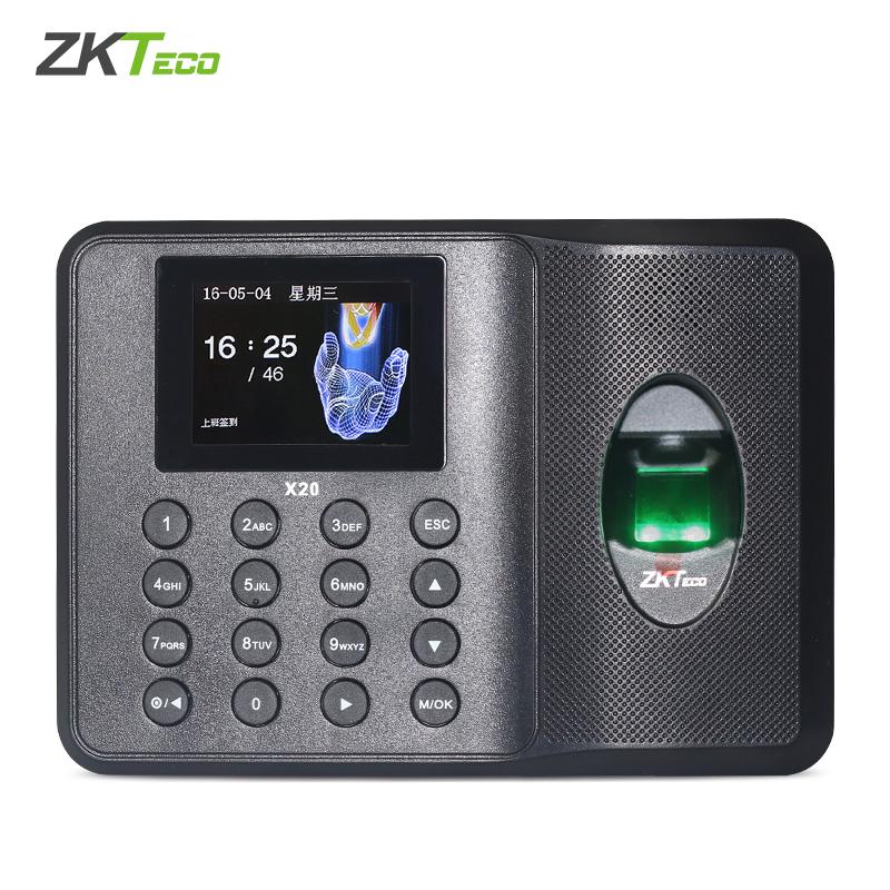 ZKTeco/中控智慧X20科技指纹考勤机指纹式打卡机上班签到机免软件打卡器