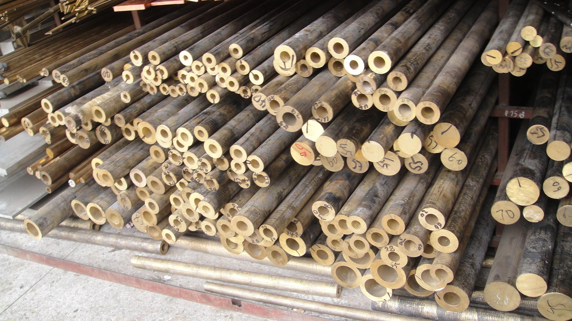 锡青铜管锡磷青铜管锡青铜棒杯士铜管锡青铜套耐磨青铜管加工零切