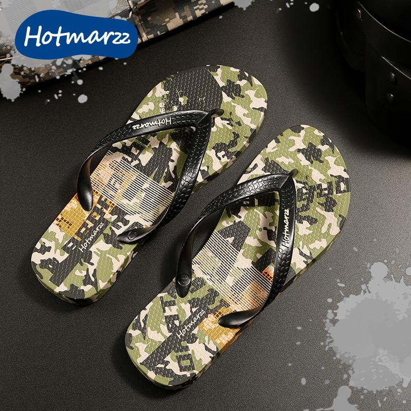 hotmarzz 男士人字拖夏季防滑户外凉拖夹脚拖鞋男休闲沙滩鞋潮流
