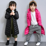Children's down jacket boys and girls mid-length light and thin 2019 new Korean version of the hooded baby autumn winter coat