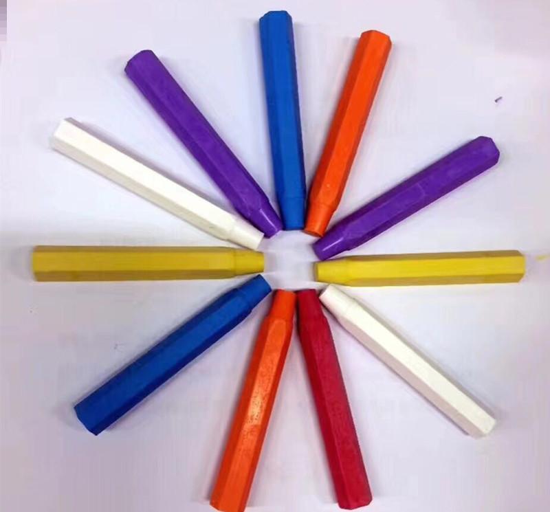 老师学生儿童水溶性粉笔 水溶粉笔 白色 彩色 黑板 绿板 粉笔