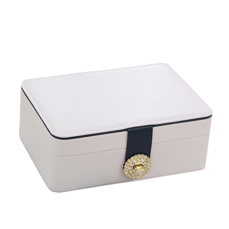 双层简约首饰盒公主欧式韩国首饰收纳盒饰品盒耳环耳钉戒指收纳盒