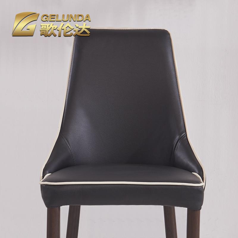 现代简约餐椅皮椅子 家用黑白色餐厅椅酒店椅单