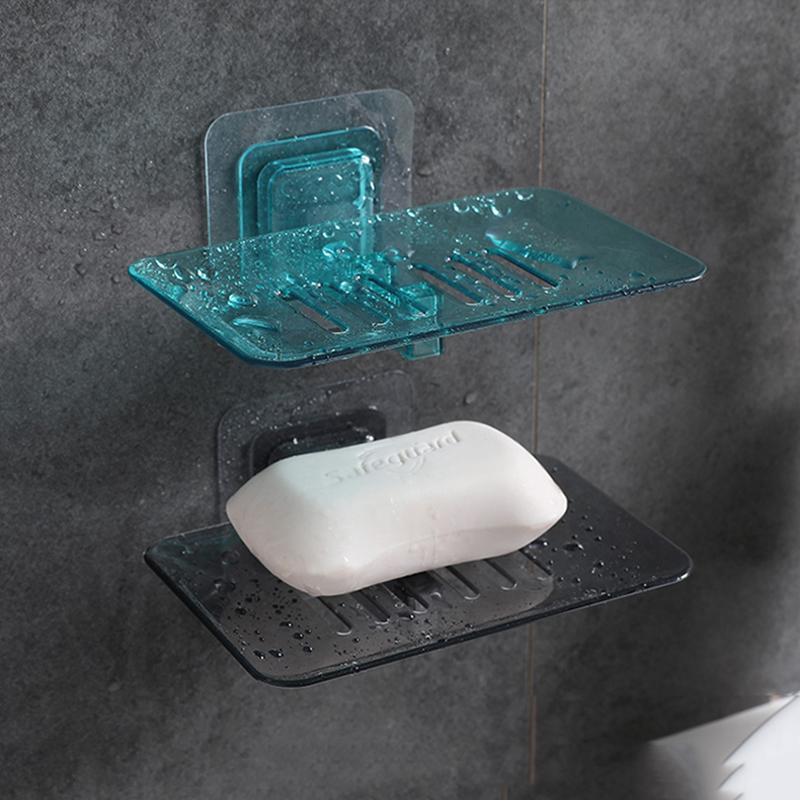 肥皂盒吸盘壁挂式创意免打孔香皂盒塑料沥水盒卫生间家用香皂架托
