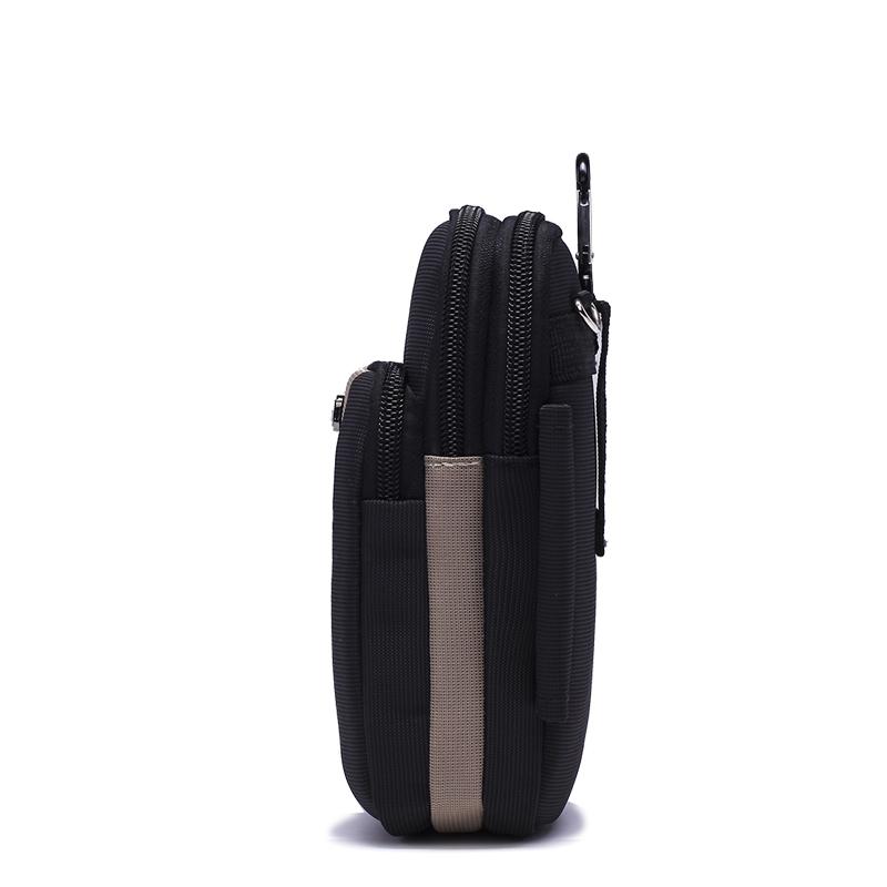 6.5寸多功能手机包男穿皮带腰包户外休闲小挂包迷你斜挎零钱女包