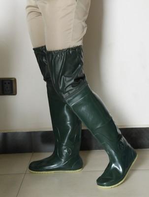 过膝水田靴插秧鞋软底高筒男女雨鞋雨靴平水田袜鞋插秧鞋挖藕涉水