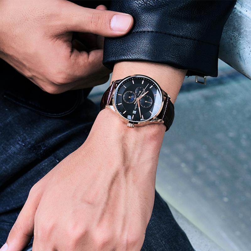 预售 邦顿手表男士全自动机械表男表潮正品中皮带国产腕表  11 双
