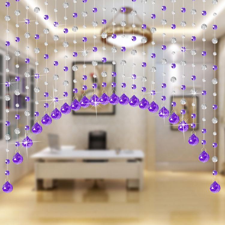 水晶帘子弧形门帘珠帘客厅隔断帘玄关鞋柜风水帘过道装饰挂帘成品
