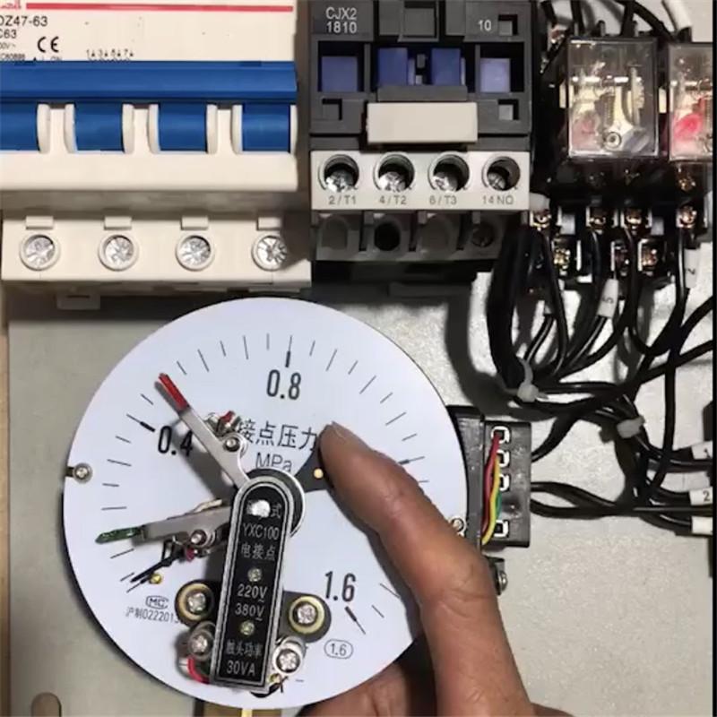 4kw 室内配电箱 水泵气泵真空泵电接点压力表自动恒压控制箱 定做
