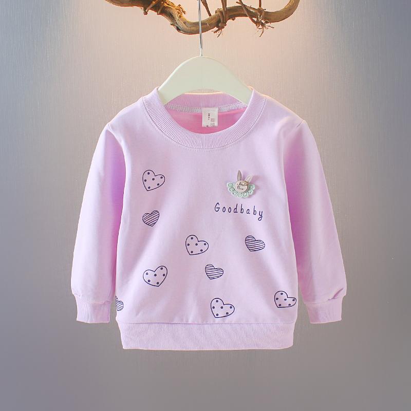 2021新款女宝宝秋季长袖T恤女宝宝1-2-3岁新潮春装小女孩
