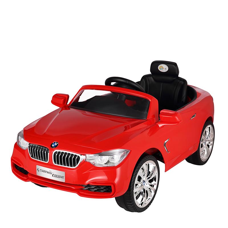 智乐堡宝马儿童电动汽车四轮带遥控小孩玩具车可坐人宝宝电瓶车