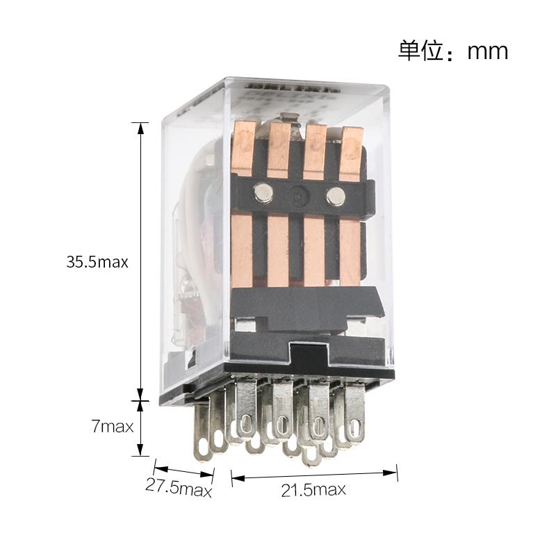 24v 220V 脚 14 MY4NJ HH54PL 电磁继电器 54P CDZ9L 德力西中间继电器