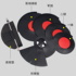 Drum silencer pad 5 drums 3 cymbal set Vibration absorbing mute pad Jazz drum soundproof drum pad Pure rubber dumb drum pad