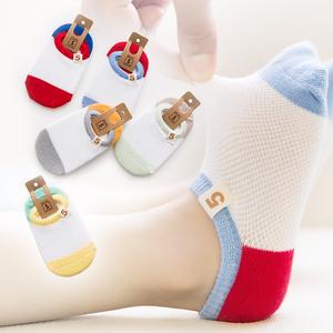 春秋夏薄款宝宝纯棉袜子1-3-5-7-9岁网眼婴儿短袜男女童儿童船袜