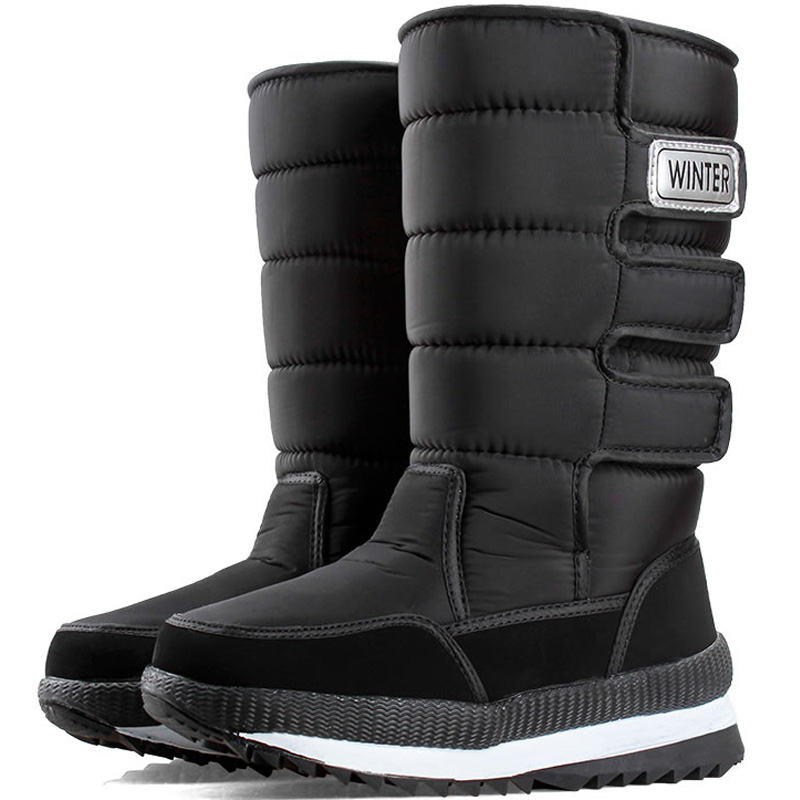 东北2020新款雪地靴女棉鞋保暖冬季加绒加厚户外高帮防水防滑男鞋主图