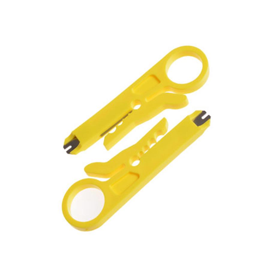 优质网线剥线刀打线刀 剥线器电话线网线打线刀 小黄刀10个装包邮