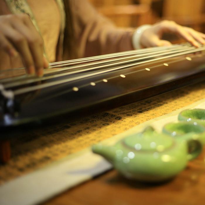 纯手工初学者七弦琴 练习式 古琴认养混沌氏泡桐木老杉木入门级