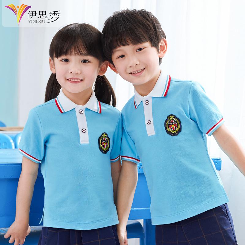 男童女童t恤2019新款儿童polo衫宝宝夏装纯棉短袖中大童半袖童装