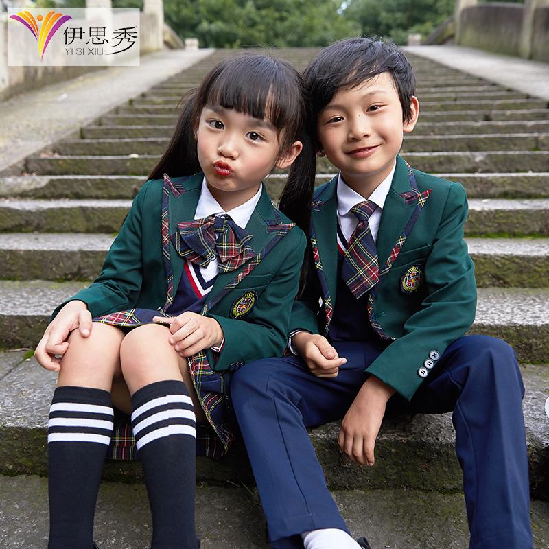 小学生校服学院风幼儿园园服三件套春秋套装儿童英伦风班服毕业服