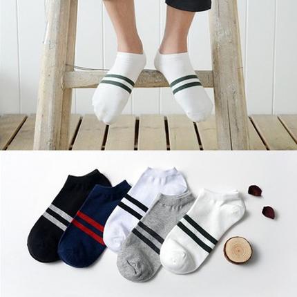袜子男夏季薄款纯棉彩色个性短袜袜i子男士低腰矮腰船袜床袜拖9.9