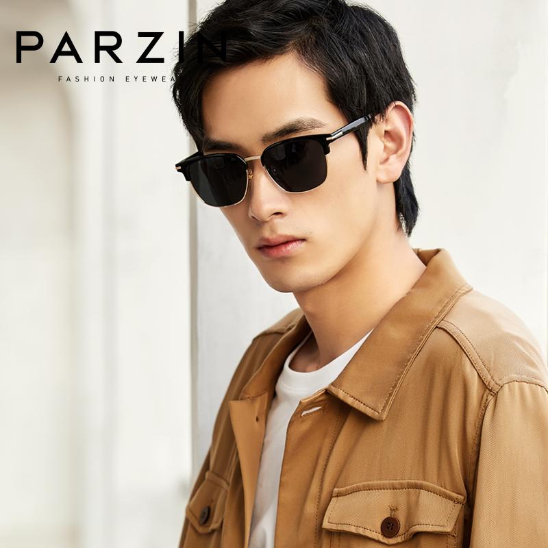 宋祖儿代言帕森2020新品太阳镜男士商务方形半框眼镜 司机偏光驾驶墨镜92027