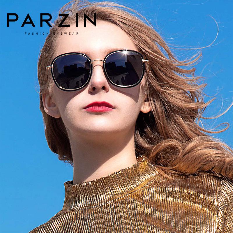 宋祖儿代言帕森偏光太阳镜 女士时尚潮流轻盈大框彩膜 复古墨镜女新款 9905