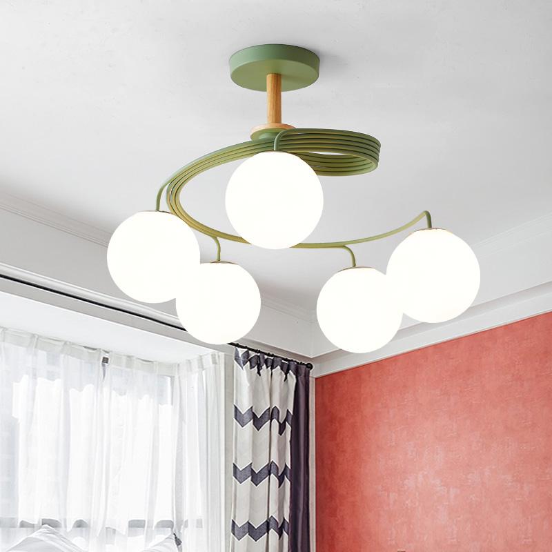 意婚房间灯简约网红灯餐厅吊灯