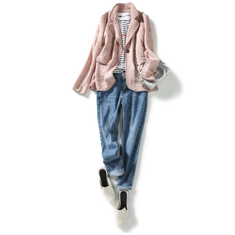 金葱亮丝羊毛提花针织西装外套 法式优雅 笑涵阁 ZY258001AG