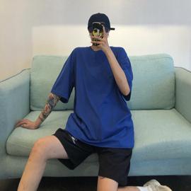 短袖t恤女2020年新款夏季ins韩版原宿风纯色上衣宽松学生体恤潮