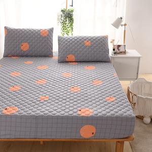 床笠纯棉单件加厚夹棉全棉1.5米保护套网红防滑固定床罩床垫套罩