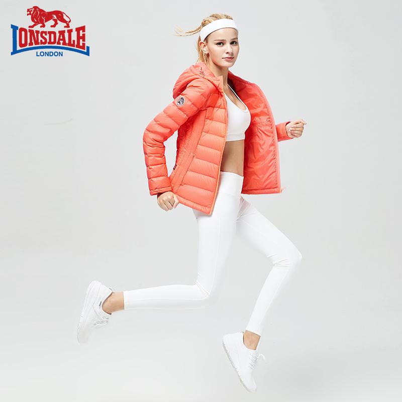 龙狮戴尔轻薄羽绒服女短款连帽修身韩版冬季新款保暖外套纯色时尚
