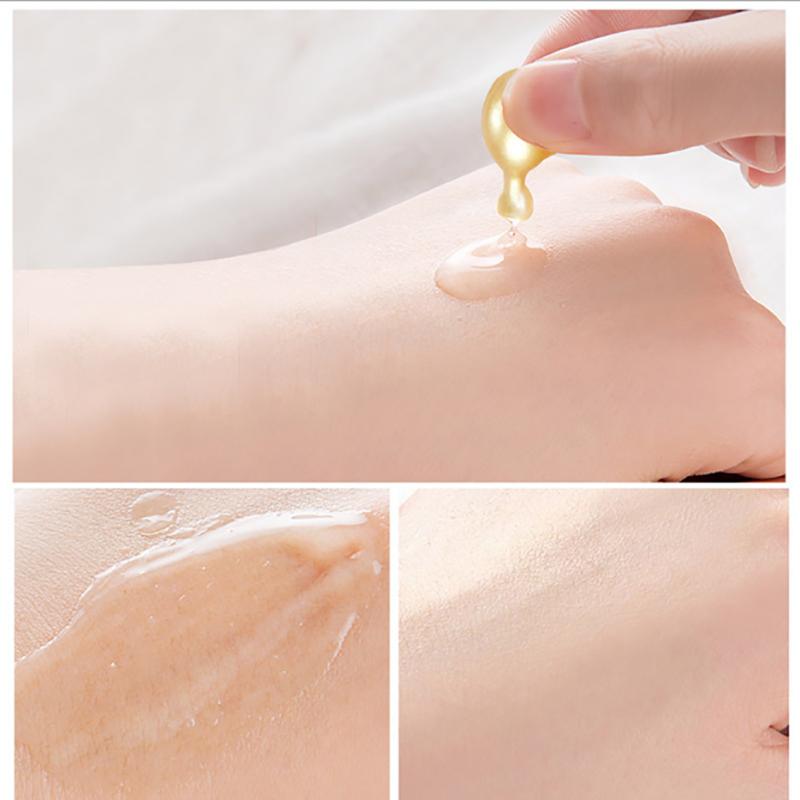 富勒烯胎盘素嫩肤精华液胶囊面部小鸡腿补水肌底液修护原液两盒装