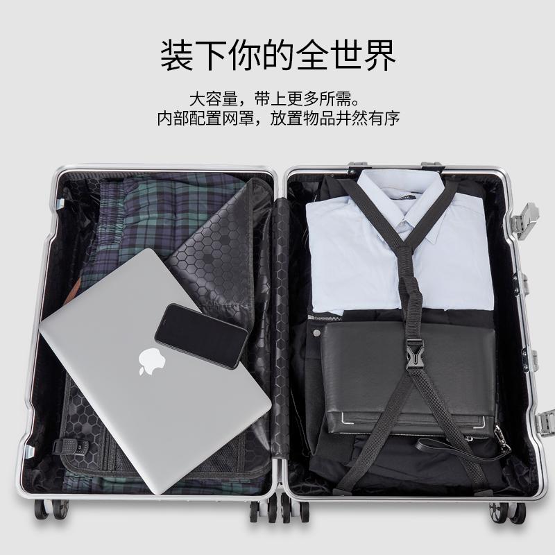 寸密码皮箱子 24 女男学生 20 花花公子旅行箱行李箱铝框拉杆箱万向轮