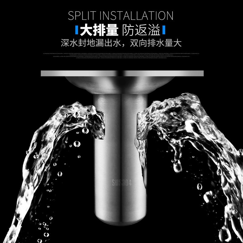 加厚304不锈钢深水封防臭地漏芯下水道浴室卫生间排水管地漏盖