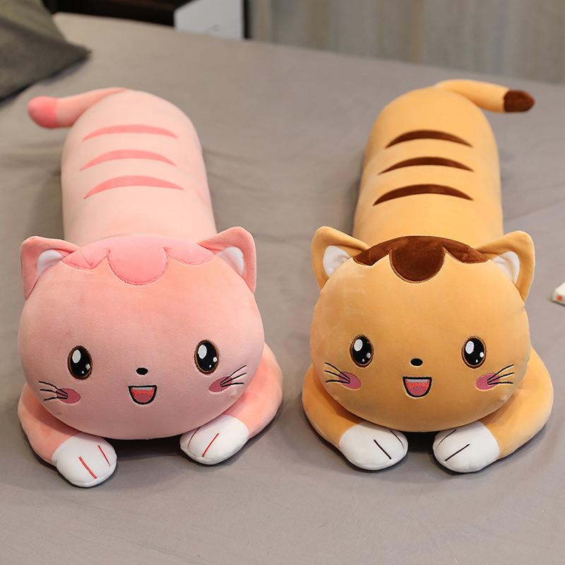 可拆洗超软仓鼠猫咪公仔长条抱枕毛绒玩具玩偶床上睡觉抱娃娃女生